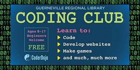 CoderDojo @ the Guerneville Regional Library (ages 8-17) tickets