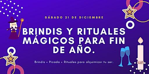 Brindis y rituales  mágicos  parafin de año