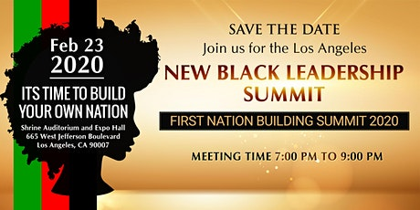 "NEW BLACK LEADERSHIP ""NATION BUILDING SUMMIT 2020"" tickets"