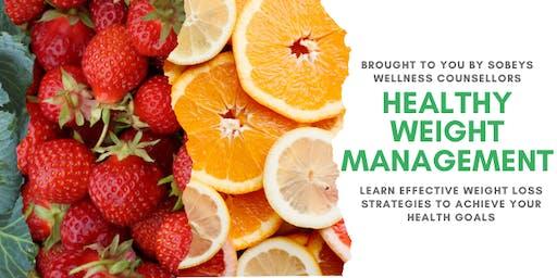 Sobeys Wellness Counsellors Present: Healthy Weight Management