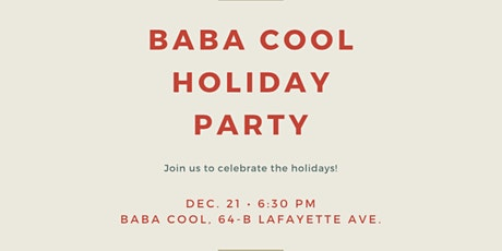 Baba Cool Holiday Party tickets