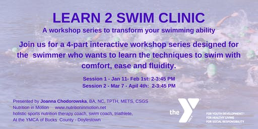 Learn 2 Swim 4 Triathlon swim clinics