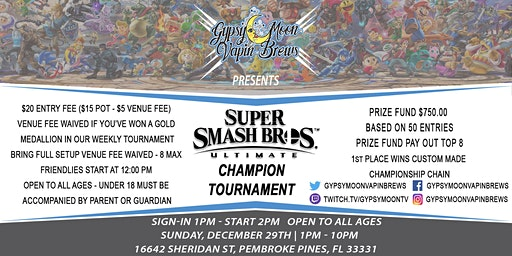 GypsyMoon Super Smash Ultimate Champion Tournament
