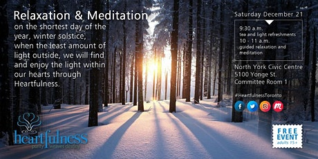 Relaxation & Meditation in North York tickets