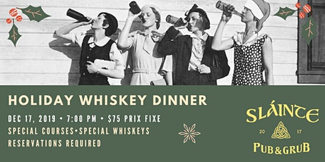 Holiday Whiskey Dinner tickets