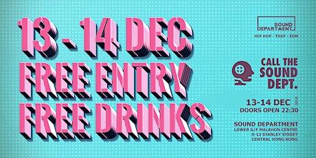 FREE ENTRY GUESTLIST (3 DRINKS) @ Sound Dept. tickets