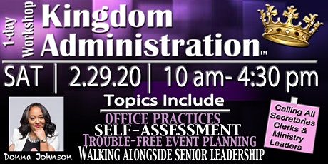 Kingdom Administration Workshop (Chesterfield, VA) - Feb 2020 tickets