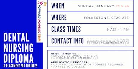 Dental Nursing Diploma/Courses in Folkestone - January 12 and 26 billets