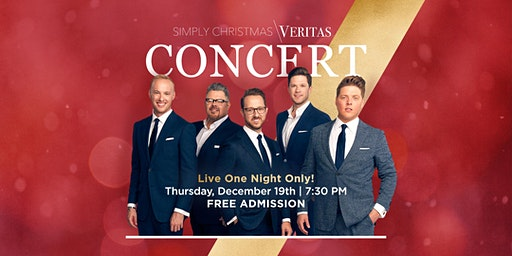 VERITAS 5 CHRISTMAS CONCERT - FREE Admission - One Night Only!
