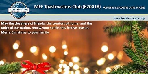 MEF Toastmasters Club meeting