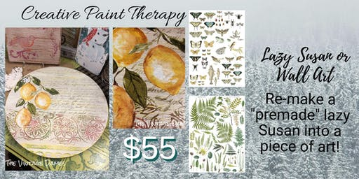 Creative Paint Therapy - Lazy Susan / Wall Art AMP