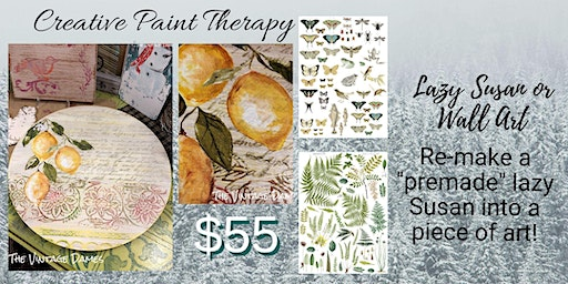 Creative Paint Therapy - Lazy Susan / Wall Art HL