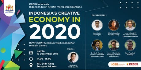 Indonesia's Creative Economy in 2020 tickets
