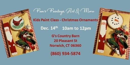Kids Paint Class - Christmas Ornaments!