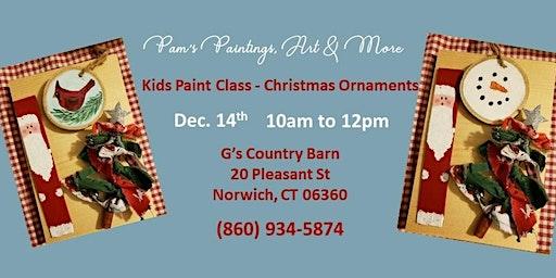 Kids Paint Class - Christmas Ornaments!