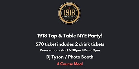 1918 NYE Countdown Party tickets
