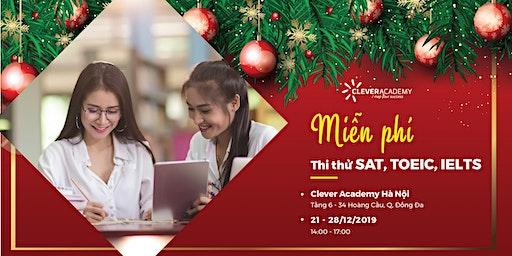 Miễn phí thi thử TOEIC, IELTS, SAT tháng 12 tại Hà Nội