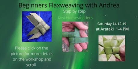 Beginner Flaxweaving workshop with Andrea tickets