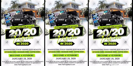 TheFrugalityCo.com presents 20/20 VISION in 2020 VENDOR REGISTRATION