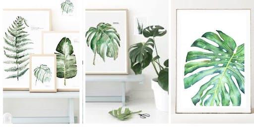 Art Workshop - Create watercolor botanical prints