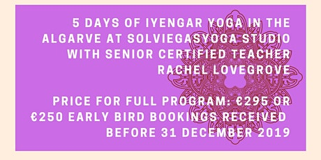 February Iyengar Yoga Intensive (non-residential) bilhetes