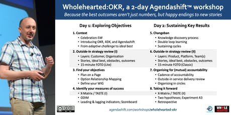 Wholehearted:OKR –Bringing Objectives & Key Results to life with Agendashift tickets