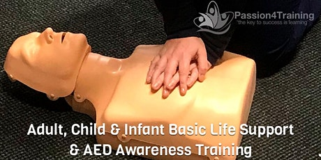 First Aid Basic Life Support & AED Level 2 Training tickets