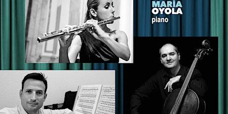 Oktávoka Trío: Cristina Gatón, flauta, Aldo Mata , cello y JMª Oyola, piano entradas