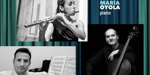 Oktávoka Trío: Cristina Gatón, flauta, Aldo Mata , cello y JMª Oyola, piano