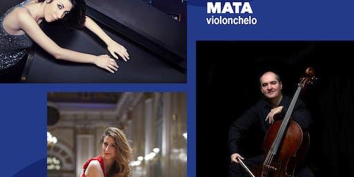 Trío: Patricia Arauzo, piano; Macarena Martínez, violín; Aldo Mata, cello