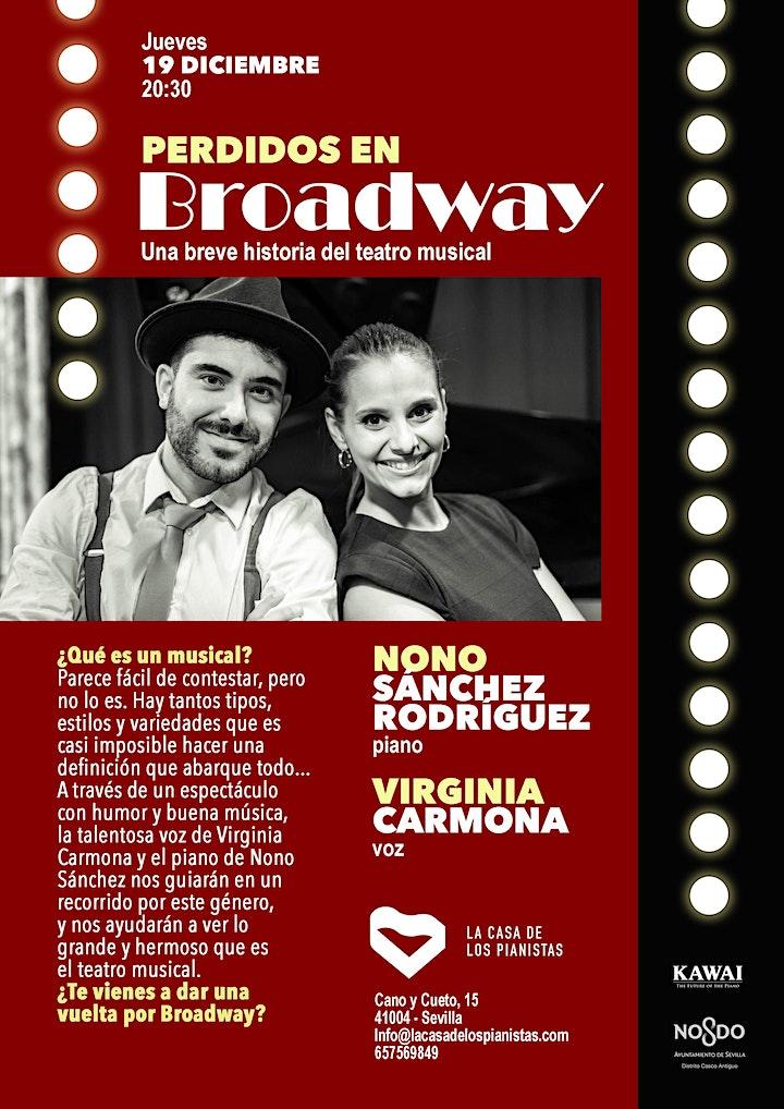 Imagen de Perdidos en Broadway: Nono Sánchez Rodríguez, piano y Virginia Carmona, voz