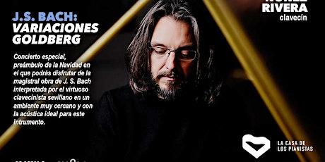 Bach: Variaciones Goldberg. Javier Núñez Rivera, clavecín entradas