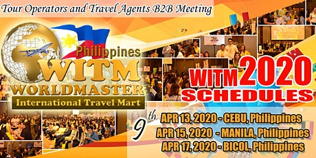 CEBU - 9th WITM Philippines - [Php500 Firs Rep.] + [Php1000 Addtl Rep] tickets