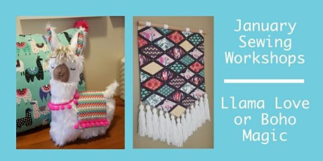 January Sewing Workshops - Llama Love Soft Toy or Boho Magic Wallhanging tickets