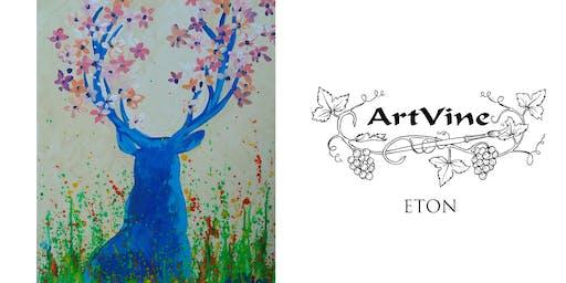 ArtVine, Sip & Paint in Eton, 26th February 2020