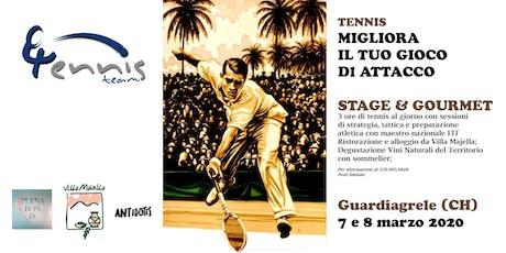 Stage di Tennis e Ristorazione Gourmet a Guardiagrele biglietti