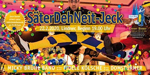"""""""SäterDehNeit - Jeck""""   Die blau-gelbe Party am Karnevalssamstag in Köln"""