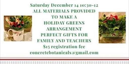 Holiday Greens Arrangements for Kids