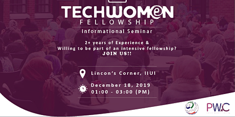 PWiC Islamabad: Techwomen Fellowship Informational Session tickets
