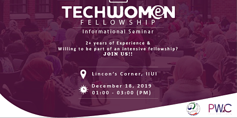 PWiC Islamabad: Techwomen Fellowship Informational Session