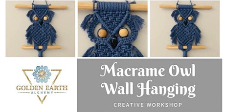 Macramé Owl Wall Hanging Workshop tickets