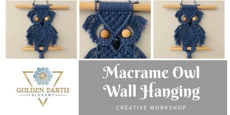 Macramé Owl Wall Hanging Workshop tickets