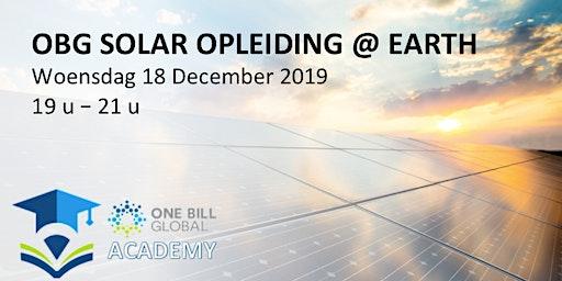 OBG - EARTH - Solar opleiding