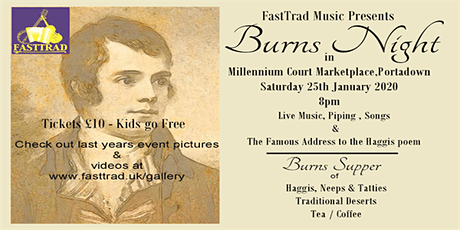 Burns Nite 25th January 2020 tickets