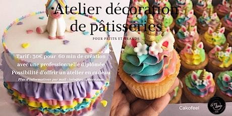 Atelier décoration de pâtisseries tickets