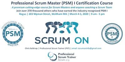 Scrum.org Professional Scrum Master PSM- Waltham MA - Mar 4-5, 2020