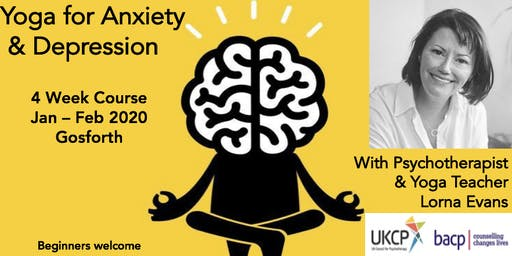 Yoga for Anxiety & Depression : 4 week course