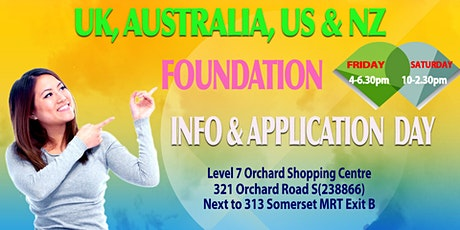 UK, Australia, NZ & US Uni Foundation Info & Appln Day tickets
