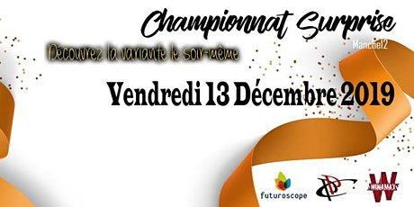 POITIERS POKER CLUB - Championnat Surprise - Manche #12 The only One !  billets