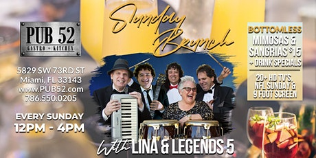 Sunday Brunch with Lina & Legends 5 tickets